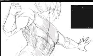 WIP - Vegeta by thefreshdoodle