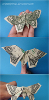 Origami Dollar Butterflies by OrigamiPieces
