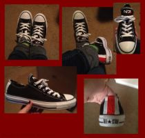 Mass Effect Sneakers by MissFishGirl