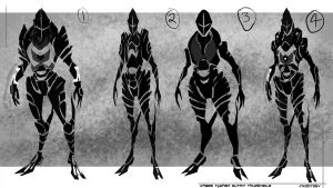 Chaes Typhen Silhouette Thumbnails by Inkdotdev