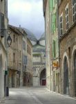 Medieval street and cathedral - Cahors 12 by HermitCrabStock