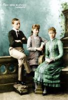 Ernest, Alix and Irene of Hesse by GrandDuchessIsabelle