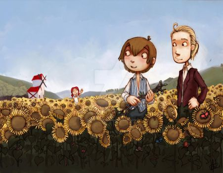 SunFlowers by pencil-cute