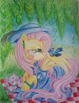 Victorian Fluttershy: Tea for Two by Oriwhitedeer