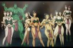 Slave Leia Group by Sean-Loco-ODonnell