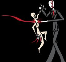 Slenderman Vs the Rake by BionicleKid97