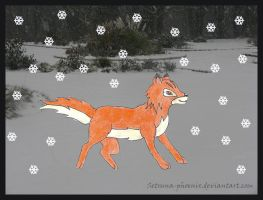 Roscoe in the Snow by Setsuna-phoenix