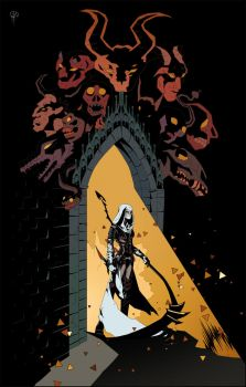 Style like Mike Mignola by A-Ri-S