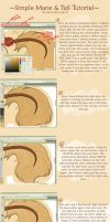 Simple Mane and  Tail Tutorial by Turquoise-Lupine