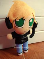 Youtube PewDiePie plushie by VioletLunchell