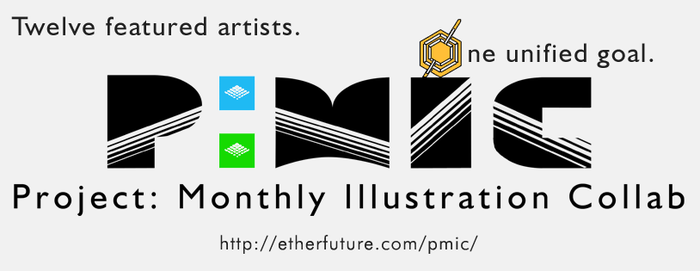 Project: Monthly Illustration Collab text logo by alexninamori