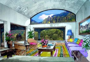 Mexican living room by domingo64