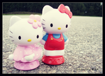 Hello Kitties Exploring by fakecandy