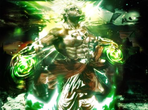 Broly's power by Shibuz4