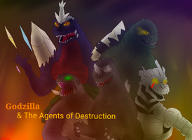 PC: Godzilla and the Agents of Destruction by FallenAngel5414