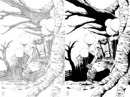 Drace Grey #2 cover pencils and ink by BrianSoriano