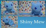 Shiny Mew Plush by fangs211