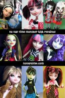 NNT Monster High Repaints by periwinkleimp