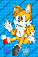 Tails The Fox ( colored ) by AshyWolfy