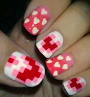 Valentines Nails by fractionVerse