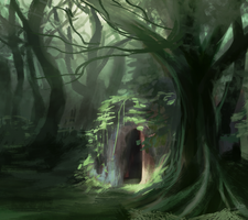 Cave in the woods by ACicco