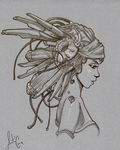 Steampunk Headdress by Robot-drawing-club