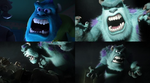 James P. Sullivan Scares (Monsters University) by dlee1293847
