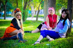 Naruko, sakura and Hinata by PrisCosplay