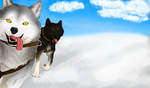 Sled Dogs by wolves--anime