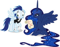 Soarin and Luna by benybing