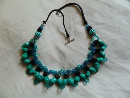 Blue and Green Necklace Thingy by DOC-Ash1391