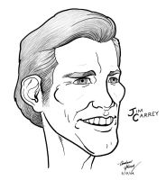 Jim Carrey caricature by silentsketcher