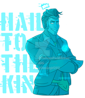 Hologram! Handsome Jack: Hail To The King by TheSteamPunkMistress