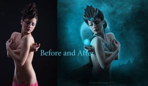 Before and After MoonLight Queen by LevanaTempest