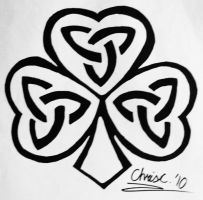 Triquetra Shamrock Tattoo by TickleMeHoHo