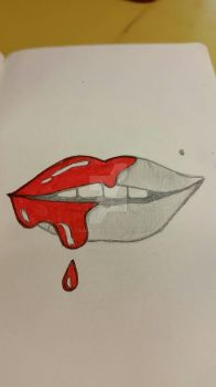 Lips Red as Blood by Laihi