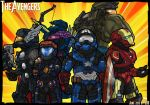 Avengers Assemble in Halo Style by GRANDBigBird