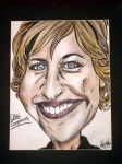 Caricature of Ellen Degeneres by ArtSavesAllofMe