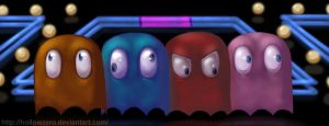Pac Ghosts by hollowzero