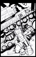 Deadpool 001 Inks by sykoeent