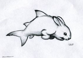 Sharkbunny by RobtheDoodler