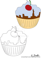The Cuppycake Cafe Logo by crezebart