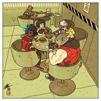 HaloGen - Lunchtime by AfuChan