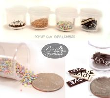 Polymer Clay Embellishments by chat-noir
