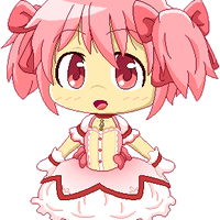 FREE - Bouncy Chibi Madoka Pixel by RANDOM-drawer357