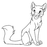 Cat Lineart for Paint5 by Nightrizer