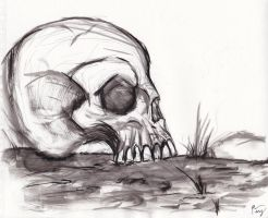 Ink skull two by E-Dowely