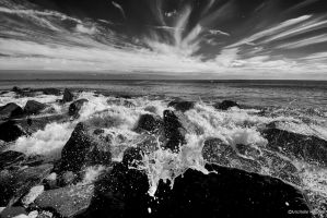 Point Judith Beach by pewter2k