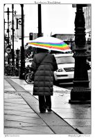 Rainbow on Broad Street by yellowcaseartist