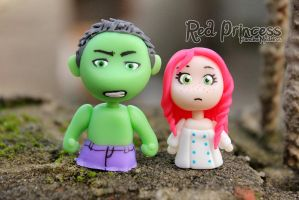 Hulk and me =D by theredprincess